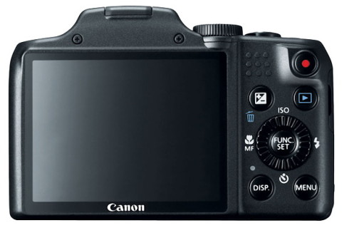 "The 3.0"" LCD display of the Canon SX170"