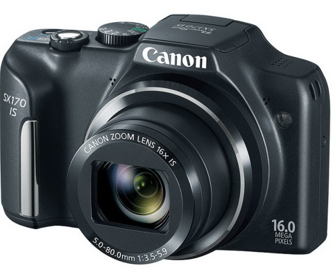 The SX170 superzoom camera from Canon