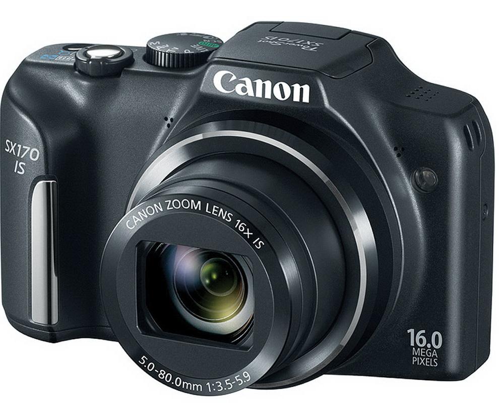 The SX170 superzoom camera from Canon