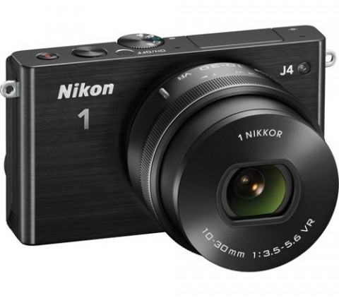Nikon 1 J4 black with lens
